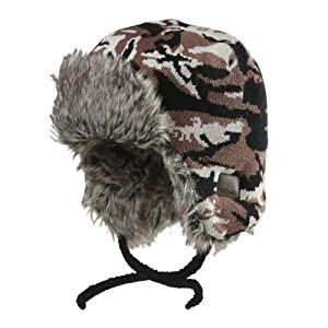 Chaos Boy's Gaga Trapper Hat, Brown, One Size