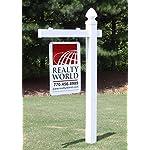 Vinyl PVC Real Estate Sign Post - White (Single)