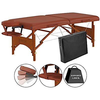 Master Massage 28 Inch Fairlane Portable Massage Table Package, Cinnamon Color, The Classic Regulation Size