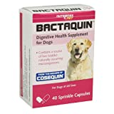 Bactaquin Digestive Health Supplement for Cats Dogs (40 capsules)