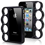 Vogue Knuckle Bumper Case for iPhone 4S / 4 - Black