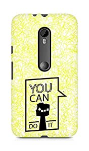 Amez You can Do It! Back Cover For Motorola Moto G3