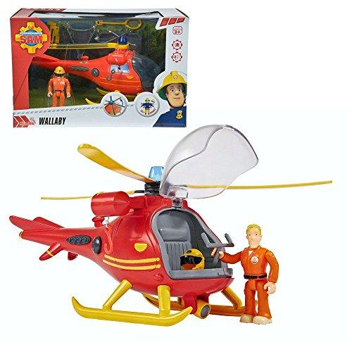 Sam Le Pompier - Hélicoptère de Sauvetage en Montagne avec Caractère Tom et Light & Sound