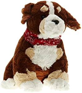 Play n Pets PNP-2179C Sitting Dog with Scarf 32cm