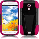 Loving Pink Premium Double Protection 2 in 1 Hard + Silicon Hybrid Challenger Case Cover Protector with Kickstand for BLU Studio 5.0 BLU Dash 5.0 with Free Gift Reliable Accessory Pen