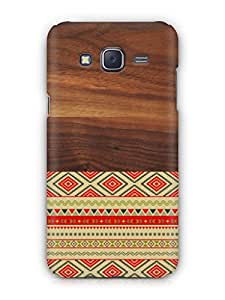 Cover Affair Wood / Aztec 3D Printed Back Cover Case for Samsung Galaxy J7 (2015)