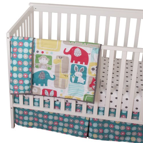 Sumersault Bold Animals Crib Set
