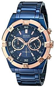 Guess U0377G4 - Orologio da polso, acciaio inox, colore: blu