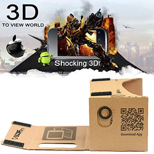 google cardboard kit by d scope pro tm 3d virtual reality import it all. Black Bedroom Furniture Sets. Home Design Ideas