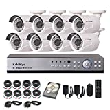 KAREye 16CH 1080N AHD DVR Surveillance Security Camera System, 1TB HDD,IP66 Waterproof Cameras,8 Bullet High Resolution IR-Cut Night Vision CCTV Kits