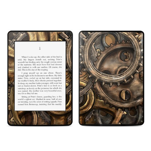 Gears Design Protective Decal Skin Sticker For Amazon Kindle Paperwhite Ebook Reader (2-Point Multi-Touch) front-636589
