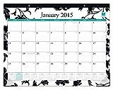 Blue Sky 2015 Barcelona Monthly Desk Pad Calendar, Case Bound, Black, 22 x 17 Inches