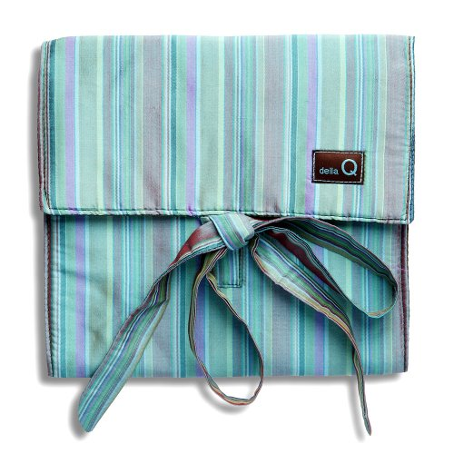 Della Q The Que Knitting Case For Standard-Size Circular Knitting Needles; 017 Seafoam Stripes 155-1-017