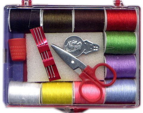 16 pcs Travel Sewing Kit with Scissor in a box