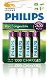 Philips - Pile Rechargeable - 2600 mAh - AA x 4 - (LR6)