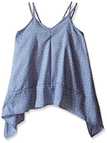 Kiddo Little Girls Cami Cross Back, Denim, Large