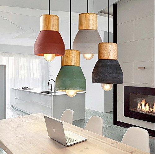 yupdpendant-lights-single-head-lamp-wood-cement-multicolor-green