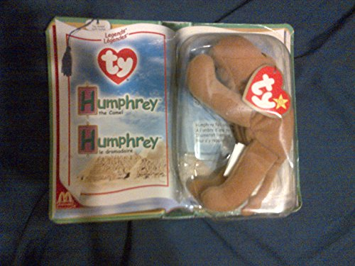 McDonalds Collectible TY Beanie Babies Humphrey the Camel Legends Stuffed Animal Plush Toy - Light Brown - 1