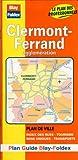 echange, troc Plans Blay Foldex - Plan de ville : Clermont-Ferrand (avec un index)