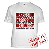 Recession, Depression, Recovery Fitted T-Shirt by CafePress - L