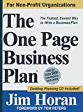 The One Page Business Plan for Non-Profit Organizations