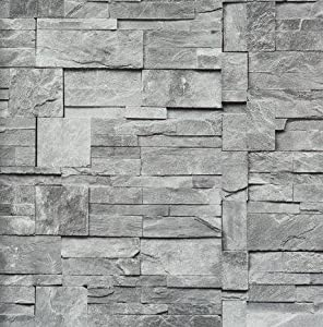 bn yours essentially stein optik mauer vlies tapete grau. Black Bedroom Furniture Sets. Home Design Ideas