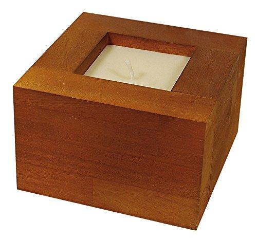Teak Candle Box 150X150 MM. CITRONELA