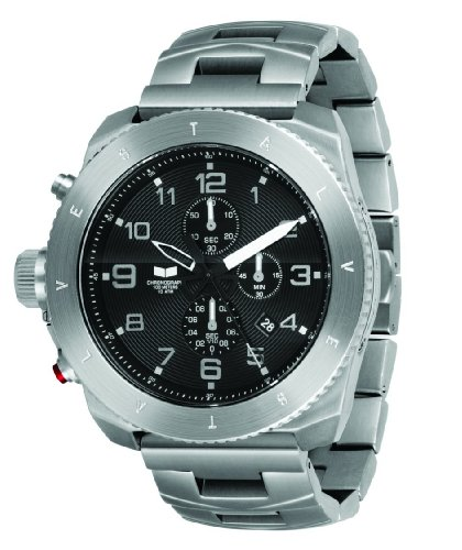Vestal Men's RES001 Restrictor Silver and Black Chronograph Dive Watch