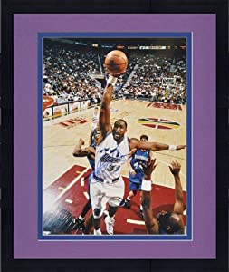 Framed Utah Jazz Karl Malone Autographed Photo - Mounted Memories Certified -... by Sports Memorabilia