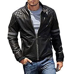Zayn Leather Men's Leather Jacket (038_WLJ_Black_Small)