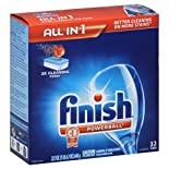 Finish Automatic Dishwasher Detergent, Powerball, Fresh Scent 32 tabs [22.7 oz (1 lb 6.7 oz) 643 g]
