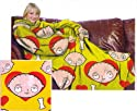 Family Guy I Love Stewie Adult Snuggler Huddler Comfy Throw Blanket with Sleeves NEW Style