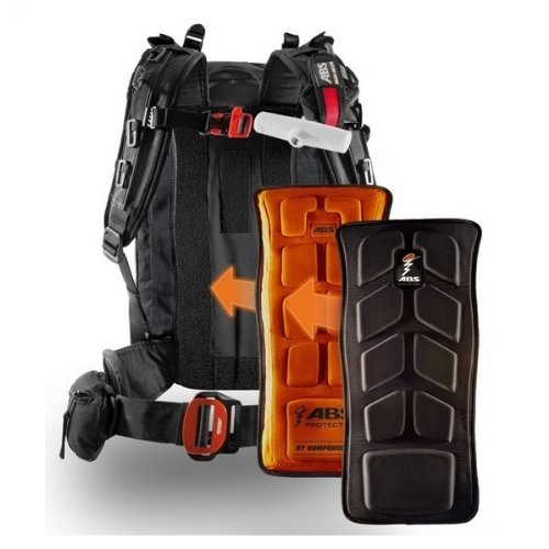 ABS Vario Base Unit Protector large, compatible Carbon, Lawinenrucksack + Cover OHNE Auslöseeinheit!