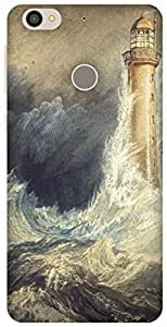 The Racoon Lean Bell Rock Lighthouse hard plastic printed back case / cover for Letv Le 1s
