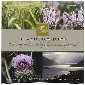 Edinburgh Tea & Coffee Company, The Scottish Collection 4-Flavor Variety Pack, 40-Count Tea Sachets
