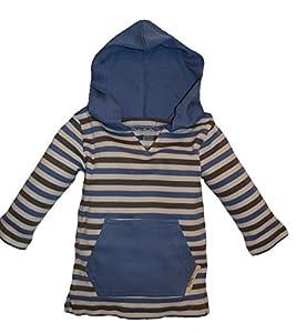 L'ovedbaby Unisex-Baby Newborn Organic Hoodie, Slate Stripe, 18-24 Months