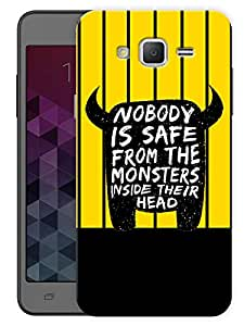 """Humor Gang Funny Monster Quote Printed Designer Mobile Back Cover For """"Samsung Galaxy On5"""" (3D, Matte, Premium Quality Snap On Case)"""