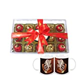 Chocholik Luxury Chocolates - 15pc Magical Collection Of Truffles With Diwali Special Coffee Mugs - Gifts For...