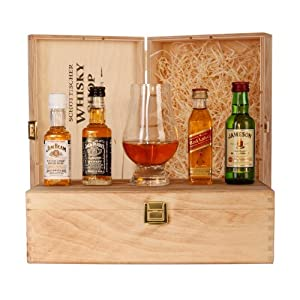 whisky set starter jim beam jack daniels johnnie walker red label jameson whiskey und. Black Bedroom Furniture Sets. Home Design Ideas