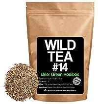 Green Rooibos Herbal Tea, Organic Unfermented Loose Leaf Tea, Wild Tea #14 by Wild Foods (4 ounce)