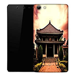 Snoogg Shangai Temple Designer Protective Phone Back Case Cover For Micromax Canvas Selfie Q348