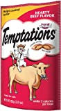 Whiskas Temptations Hearty Beef FlavourTreats for Cats, 3-Ounce Pouches (Pack of 12)