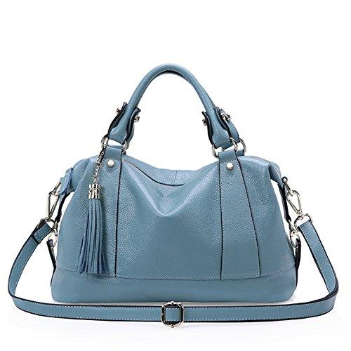 Walcy HB900253C1 Fashion Genuine Leather Women's Handbag,Dumplings Type Fringed Bag (Panasonic Sharpener 4 compare prices)