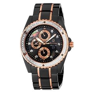 Bulova Men'S 98E102 Marine Star Diamond Case Bracelet Mother Of Pear Dial Watch