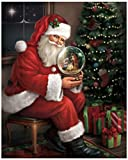 The Craft Room 64273-C Santa's Favorite Gift: A Nativity Snow Globe Lighted Canvas