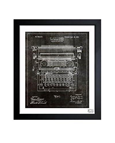 "Oliver Gal Artist Co. ""Type Writing Machine 1899"" Framed Art"