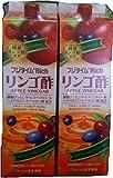 2本セット!富士薬品 フジタイムリッチ リンゴ酢 1800ml✖2本