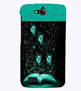 PrintVisa Modern Art Book Knowledge Gyaan 3D Hard Polycarbonate Designer Back Case Cover for Huawei Honor Holly