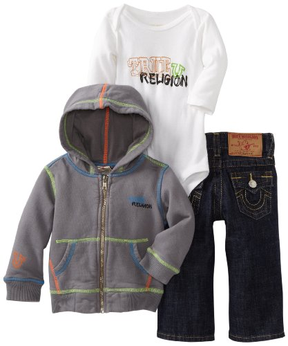 Review True Religion Baby-boys Infant 3-piece Gift Box Set, Seal, 12-18 Months  Best Offer