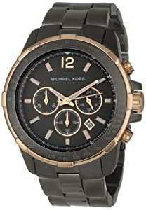 Michael Kors Men's MK8173 Runway Gunmetal and Rose-Tone Watch
